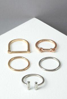 Minimalist Ring Set - Accessories - 1000161926 - Forever 21 EU English