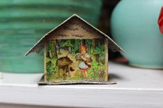 Antique Putz House Made in Germany Little Red by Plantdreaming, $34.00