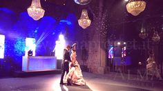 ALMA PROJECT @ Castello di Vincigliata - Courtyard - Moving Heads - Ledwall - Mirror ball - First Dance 150926