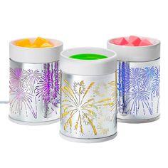 ScentGlow™ - Elektrische Duftlampe Feuerwerk von PartyLite, Ein Feuerwerk in wechseldem Farbenspiel! Keramik auf fein gearbeitetem Metall. Weißes Kabel. H: 14 cm. Für Scent Plus™ Melts.