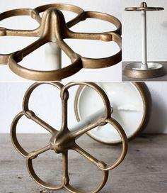 Vintage umbrella stand / umbrella holder / metal by wohnraumformer