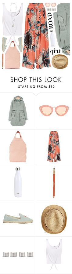 """rev it up: road trip style"" by jesuisunlapin ❤ liked on Polyvore featuring Parka London, Karen Walker, BAGGU, ADRIANA DEGREAS, S'well, Sisley, Soludos, Flora Bella, Maison Margiela and Splendid"