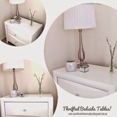 Sparkles in the Everyday!: Thrifted Bedside Tables....Before and After!