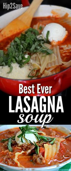 Best Ever Lasagna Soup Recipe (You MUSTTry)
