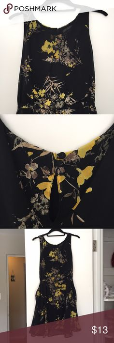 Floral black mini dress Slightly worn black floral dress with pockets. Lucca Couture Dresses Mini