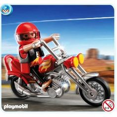 Playmobil 5113 - Chopper Motorcycle with Rider