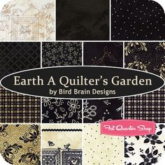 Earth A Quilter's Garden Fat Quarter BundleBird Brain Designs for Fresh Water Designs - Maywood Studio Fabrics | Fat Quarter Shop