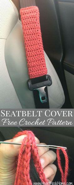 Easy Crochet Seat-belt Cover – Free Pattern - Crochet Belt Patterns - 44 Free Tutorials - DIY & Crafts