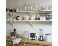 kitchen storage for small spaces | Shelves for kitchen storage