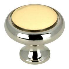 Bathroom-Nickel And Brass Cabinet Knob Richelieu America Knob Round Cabinet Hardware & Knobs Kitche