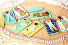 A day at the beach by Baked Ideas #cookies #bakedideas