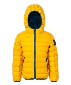 Loving this Yellow Flair Down Jacket - Toddler & Kids on #zulily! #zulilyfinds