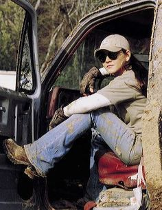 Gretchen Wilson -- it's hot when a guy drives a jacked up truck, but it's hotter when a girl does!