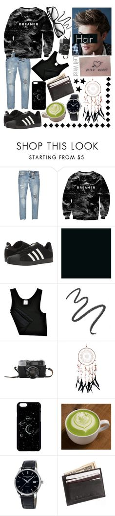 """Genderfluid/FTM Trans Outfit #3"" by kitcat01 ❤ liked on Polyvore featuring River Island, Mr. Gugu & Miss Go, adidas, Maybelline, Chicas Fashion and Frédérique Constant"