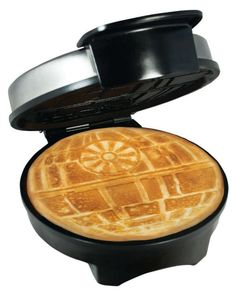 An iron that makes waffles shaped like the Death Star. | 27 Things That Will Make Your Morning So Much Better