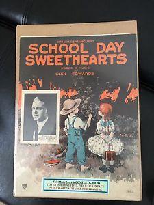 School Day Sweethearts Words Music Glen Edwards Cover Art | eBay