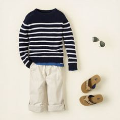 nautical crew, love, love this outfit. My oldest would look adorable in this!