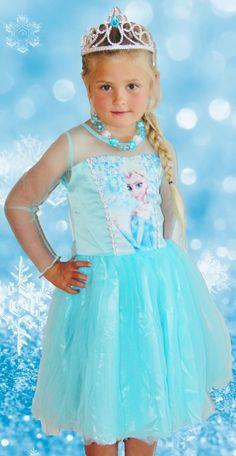 Inspired Frozen Elsa Princess Short Dress | Sparkle in Pink www.sparkleinpink.com