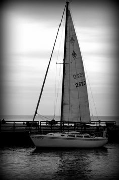 South Haven Michigan, black and white photo by me