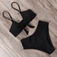 Costume Da Bagno Aperto Bikini Bandeau string slim sling Swimwear Swimsuit L