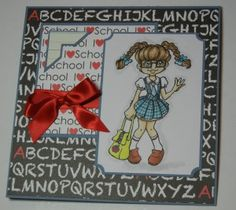 Paper Crafting - fun card for teachers! #papercrafts