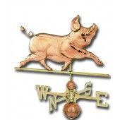 Whimsical Pig Copper Weathervane