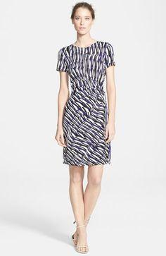 DVF Zoe Print Side Tie Silk Dress