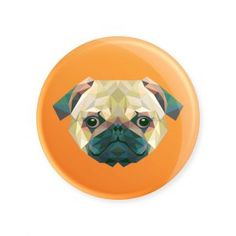 Pug pixelizado laranja - Ímã colecionável disponível na loja online www.divertima.com