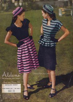 Junior Fashions, Spring & Summer 1946 Aldens Catalog | VintageStitches.com