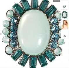 ASOS official website with ultra the beauty ring large gem light blue green lining color eye-catching