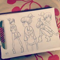 anna-cattish:  #sketching #girls