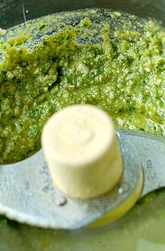 Basil Pesto Recipe — Making Basil Pesto is easy to do, and the perfect condiment for so many dishes.