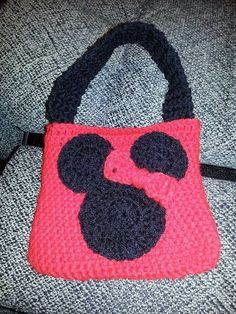 Minnie Mouse Crochet Purse by BamaBeautyBoutique on Etsy, $15.00