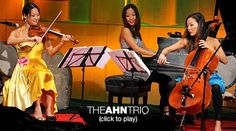 """Ahn Trio: A modern take on piano, violin, cello  The three Ahn sisters (cellist Maria, pianist Lucia, violinist Angella) breathe new life into the piano trio with their passionate musicmaking. At TEDWomen, they start with the bright and poppy """"Skylife,"""" by David Balakrishnan, then play a gorgeous, slinky version of """"Oblivion,"""" by Astor Piazzolla."""