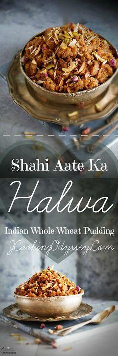 Jagruti's Cooking Odyssey: Shahi Aate / Atte Ka Halwa / Sheera - Indian Whole Wheat Pudding