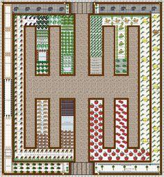 Garden Plan - 2016: Vegetable garden#garden #plan #vegetable Vegetable Garden Planner, Backyard Vegetable Gardens, Potager Garden, Veg Garden, Vegetable Garden Design, Plan Potager, Garden Landscaping, Fenced Garden, Garden Hoe