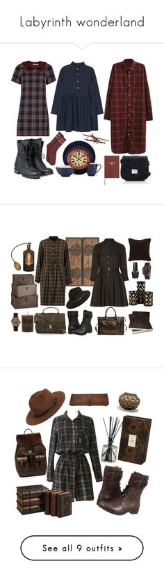 """""""Labyrinth wonderland"""" by feel-fear on Polyvore featuring PLDM by Palladium, Wallis, Louche, Authentic Models, Sloane Stationery, Kate Spade, Hue, women's clothing, women's fashion and women"""
