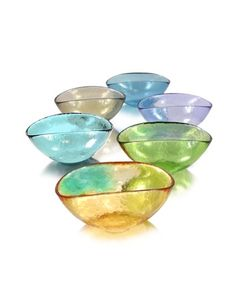 Happy Fruit - 6 Colored Murano Glass Bowls