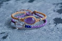 Macrame bracelet macrame jewelry double by EarthCraftHandmade