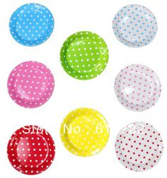 Aliexpress.com : Buy Party Supplier Kids Birthday Decor Polka Dot Paper Plate 9inch 60 pcs/lot Party Dishes 8 Color for Choice from Reliable necklace gold plated suppliers on Eric Decor Store.