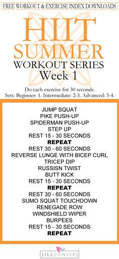 FREE HIIT Summer Workout Series! We'll work together this summer and set ourselves up for fitness success. You bring the determination, commitment and a never give up attitude.