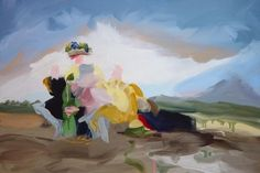 Elise Ansel  Picnic 2010 oil on linen 21 x 31 inches
