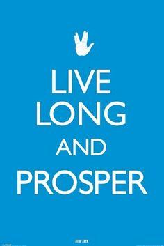 Star Trek Poster TOS Live Long and Prosper 24x36 TV Original Series Spock | eBay