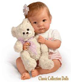"Ashton Drake ""I PROMISE TO LOVE YOU,TEDDY"" - LIFELIKE POSEABLE BABY DOLL - NEW | eBay"
