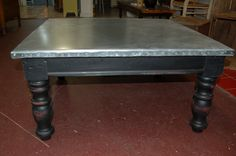 metal top coffee table