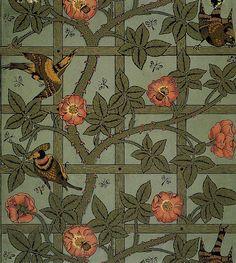 William Morris and the Trellis Wallpaper