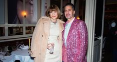 Name a more iconic duo...Marc Jacobs and Anna Wintour before the Shameless Launch Party in Paris during Paris Fashion Week. #marcjacobsbeauty #entry