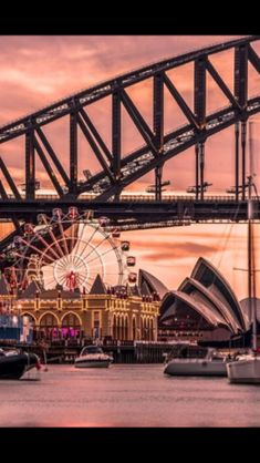 🎡🎠 Treat the kids (and your inner child) to some carnival fun at Start the day with a ferry ride from Circular Quay or a… Perth, Brisbane, Melbourne, Sydney Australia, Australia Travel, Luna Park Sydney, Sydney Ferries, Bridges Architecture, Land Of Oz