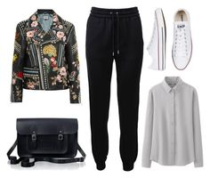 """""""flowery jacket"""" by phoebe-zeng on Polyvore featuring Gucci, Barbara Bui, Uniqlo, Converse and The Cambridge Satchel Company"""