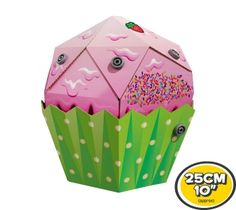 Makedo Ready to Build Cupcake  Build your own 3D cardboard construction. Everything you need is included in the box. Become a cardboard construction expert using Makedo's specially designed Scru and Scrudriver. Range includes Dinosaurs, Vehicles, Predators, Desserts & Pets • $15 USD